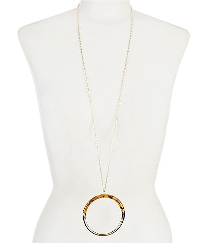 Anna & Ava Resin Hoop Pendant Necklace