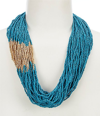 Anna & Ava Seed Bead Statement Necklace
