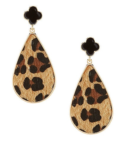 Anna & Ava Simone Leopard Teardrop Earrings