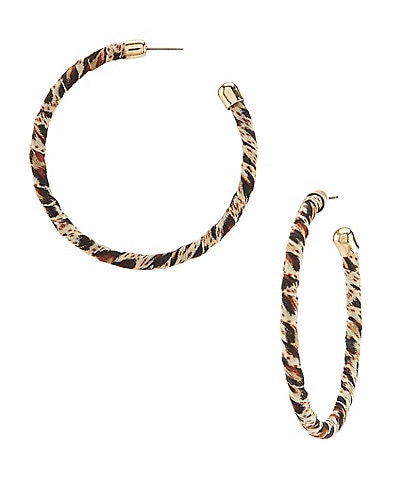Anna & Ava Skylar Leopard Hoop Earrings