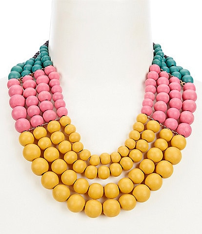 Anna & Ava Wood Multi Strand Necklace
