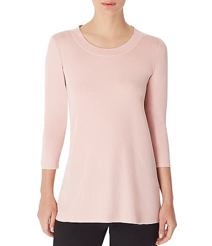 Anne Klein 3/4 Sleeve Sweater Knit Top