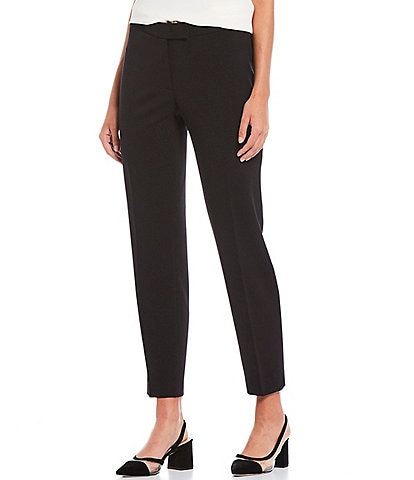 Anne Klein Bi-Stretch Slim Straight Leg Ankle Pants