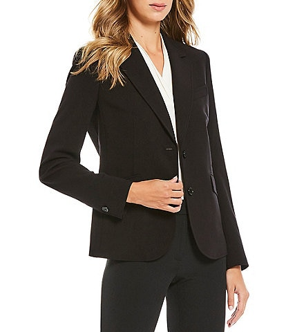 Anne Klein Bi-Stretch Two-Button Front Jacket