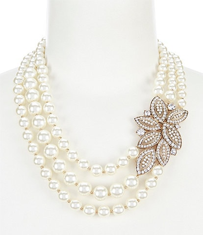 Anne Klein Blanc Pearl Necklace
