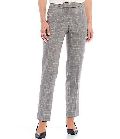 Anne Klein Bowie Plaid Straight Leg Pant