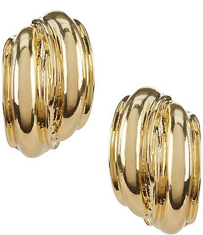 Anne Klein Button Clip-On Earrings