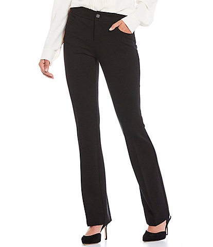 Anne Klein Compression Knit Flare Leg Pants