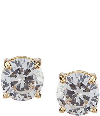 Anne Klein Crystal Gold Stud Earrings
