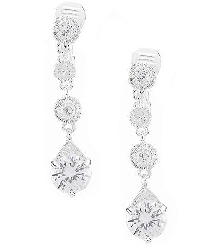 Anne Klein Crystal Linear Clip-On Earrings