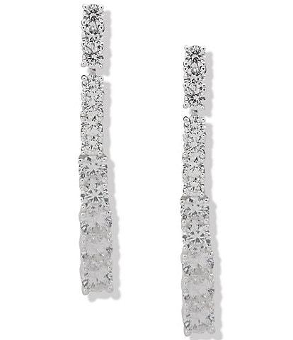 Anne Klein Crystal Linear Earrings