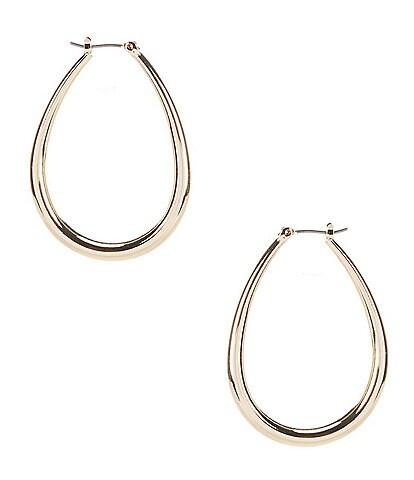 Anne Klein Elongated Tube Hoop Earrings