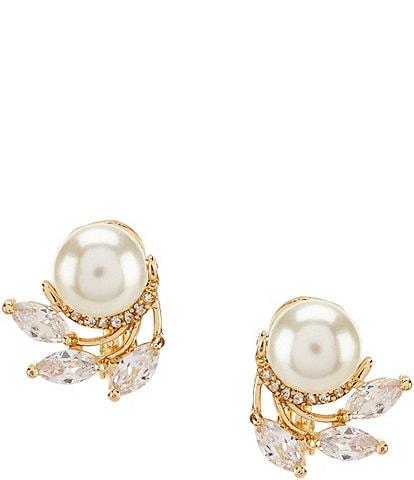 Anne Klein Faux-Pearl Clip-On Stud Earrings
