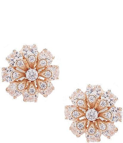 Anne Klein Flower Button Clip Earrings