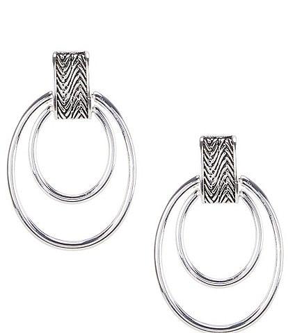 Anne Klein Herringbone Clip-On Earrings