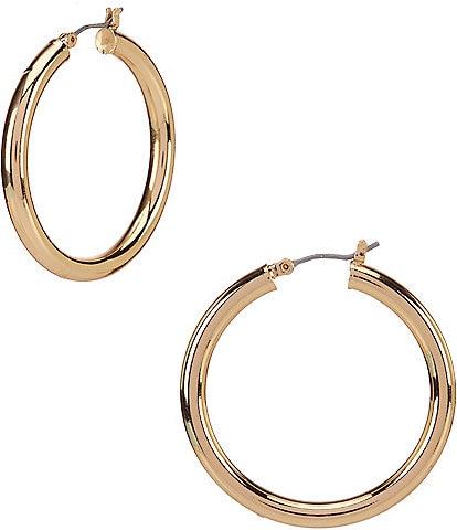 Anne Klein Medium Click Top Hoop Earrings