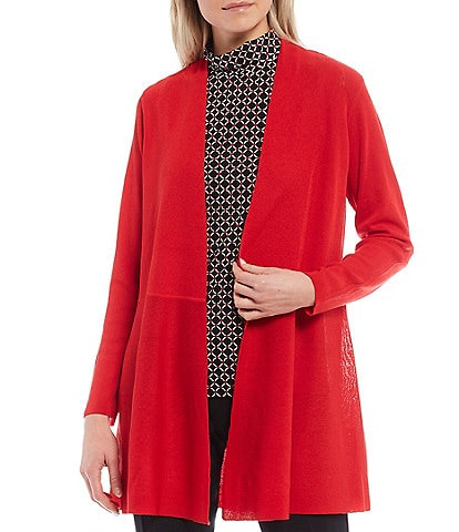 Anne Klein Monterey Open Front Long Sleeve Cardigan