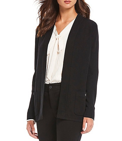 Anne Klein Open Front 2-Pocket Knit Cardigan