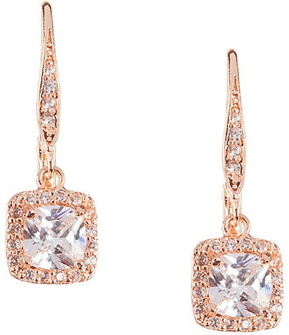 Anne Klein Pav Crystal Drop Earrings