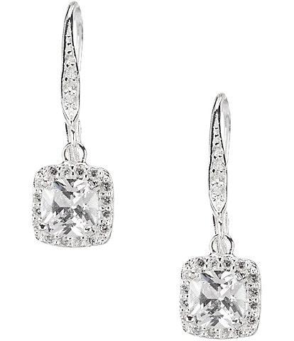 Anne Klein Pavé Crystal Drop Earrings
