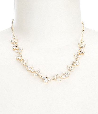 Anne Klein Pave Frontal Necklace
