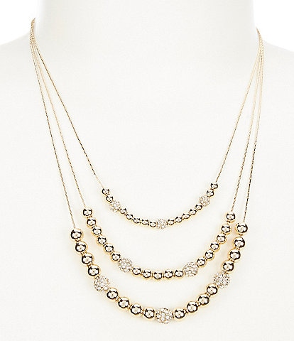 Anne Klein Pave Multi Strand Necklace
