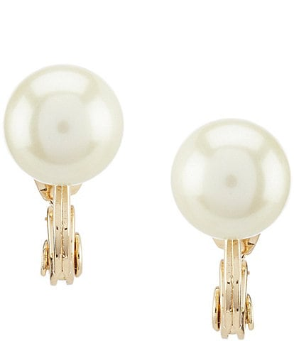 Anne Klein Pearl Clip-On Earrings