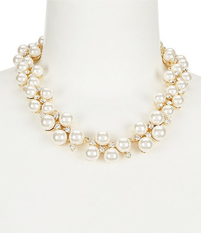 Anne Klein Faux-Pearl Collar Statement Necklace
