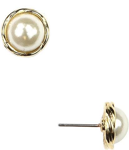 Anne Klein Faux-Pearl Earrings