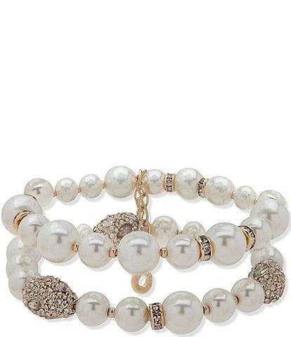 Anne Klein Pearl Nugget Stretch Bracelet
