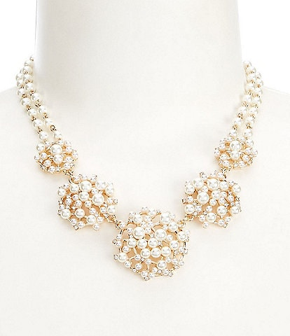 Anne Klein Pearl Scatter Collar Necklace