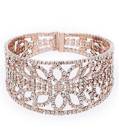 Anne Klein Rhinestone Cuff Bracelet