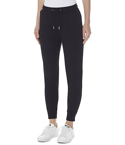 Anne Klein Serenity Knit Drawstring Ankle Joggers