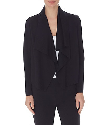 Anne Klein Serenity Knit Open Drapey Front Compression Jacket