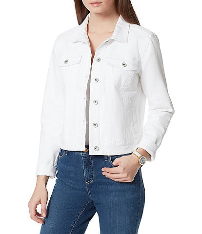 Anne Klein Sport Long Sleeve Classic Denim Jacket