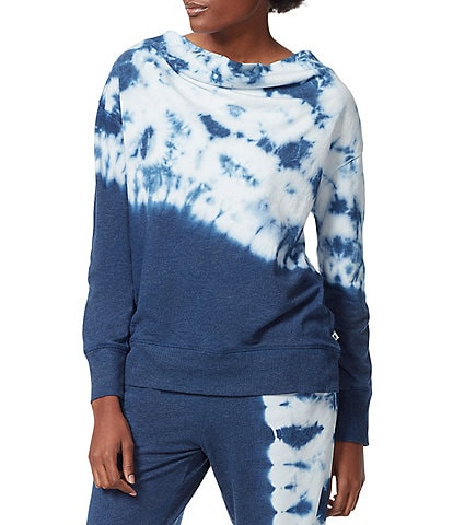 Anne Klein Sport Morris Cowl Neck Long Sleeve Tie Dye Pullover