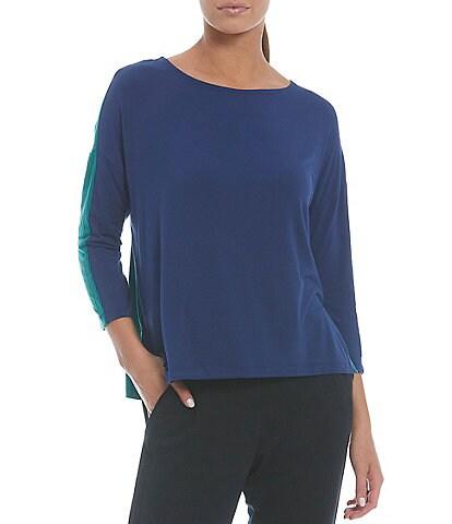 Anne Klein Sport Rara 3/4 Sleeve Side Slit Pullover