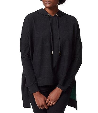 Anne Klein Sport Rylee Drop Shoulder Long Sleeve High-Low Boxy Hoodie