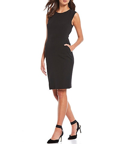 Anne Klein Stretch Crepe Sleeveless Sheath Dress