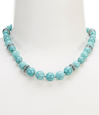 Anne Klein Turquoise Beaded Collar Necklace