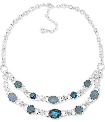 Anne Klein Two Row Frontal Necklace