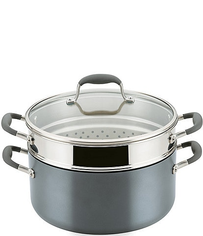 Anolon Advanced Home Hard-Anodized Nonstick Wide Stockpot with Multi-Function Insert