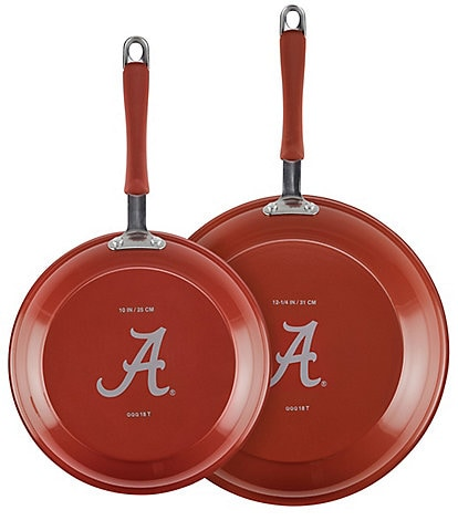 College Kitchen Collection Alabama Sizzle 2-Piece Skillet Set