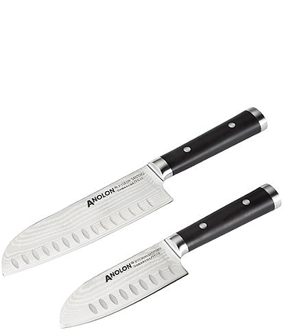 Anolon Imperion Damascus Steel Cutlery 2-Piece Santoku Knife Set