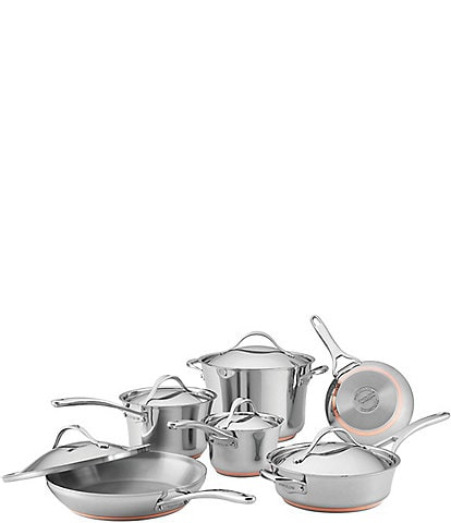 Anolon Nouvelle Copper Stainless Steel 11-Piece Cookware Set