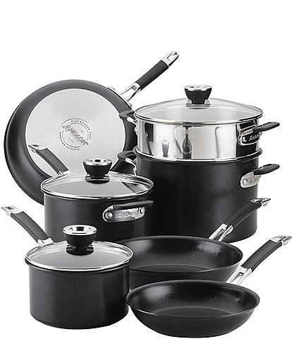 Anolon SmartStack Hard-Anodized 10-Piece Cookware Set