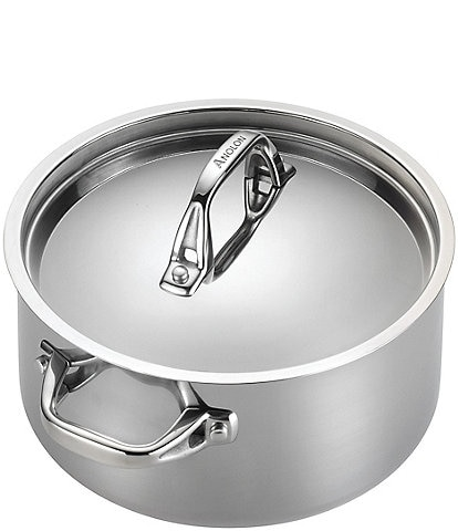 Anolon Tri-Ply Clad Stainless Steel Covered Saucepot
