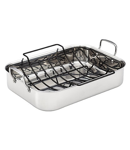 Anolon Tri-Ply Clad Stainless Steel Roaster with Nonstick Rack