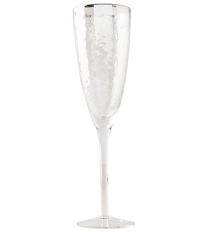 Anthropologie Home Lustered Zaza Flute Stemware, Set of 4