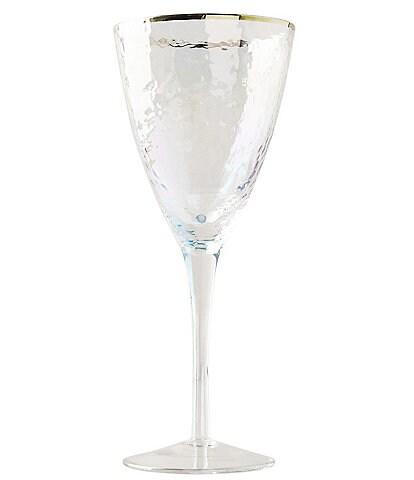Anthropologie Home Luster Zaza Wine Glasses, Set of 4